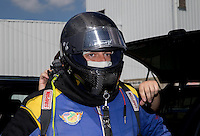 Jun. 2, 2013; Englishtown, NJ, USA: NHRA top fuel dragster driver Sidnei Frigo during the Summer Nationals at Raceway Park. Mandatory Credit: Mark J. Rebilas-