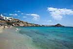 Cleear Agean Sea at Mykonos Island in Greece