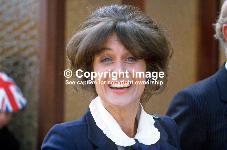 Lady Georgina Mary O'Neill, wife of Lord O'Neill, 4th Baron, Shane's Castle, Antrim, N Ireland, UK, 19840070GMON2.<br /> <br /> Copyright Image from Victor Patterson,<br /> 54 Dorchester Park, Belfast, UK, BT9 6RJ<br /> <br /> t1: +44 28 90661296<br /> t2: +44 28 90022446<br /> m: +44 7802 353836<br /> <br /> e1: victorpatterson@me.com<br /> e2: victorpatterson@gmail.com<br /> <br /> For my Terms and Conditions of Use go to<br /> www.victorpatterson.com