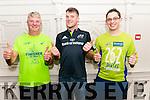 Matt O'SUllivan, Jack Cronin and Owen O'Sullivan pictured  in the Avenue Hotel, Killarney last Sunday ahead of there run in Athens Marathon.