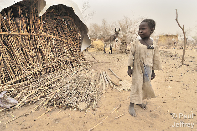 A boy displaced by violence in the Darfur region of Sudan.