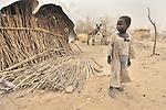 A boy displaced by violence in the Darfur region of Sudan.