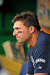 12 April 2008: Atlanta Braves' outfielder Jeff Francoeur awaits his at bat in the dugout during a game against the Washington Nationals at Nationals Park, in Washington, DC. The Braves defeated the Nationals 10-2...Mandatory Photo Credit: Ed Wolfstein Photo