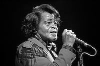 "James Brown, also known as ""The Godfather of Soul"", performing one of his last concerts on 11 November 2005 at the House of Blues in Los Angeles, CA. USA."