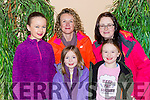 Laoise Murphy, Nina Diggin, Anne Murphy, Ava Diggin and Emer Looney at the Robin Hood panto in Killorglin CYMS on Sunday