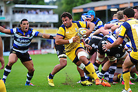Marco Mama of Worcester Warriors breaks from a scrum. Aviva Premiership match, between Bath Rugby and Worcester Warriors on September 17, 2016 at the Recreation Ground in Bath, England. Photo by: Patrick Khachfe / Onside Images