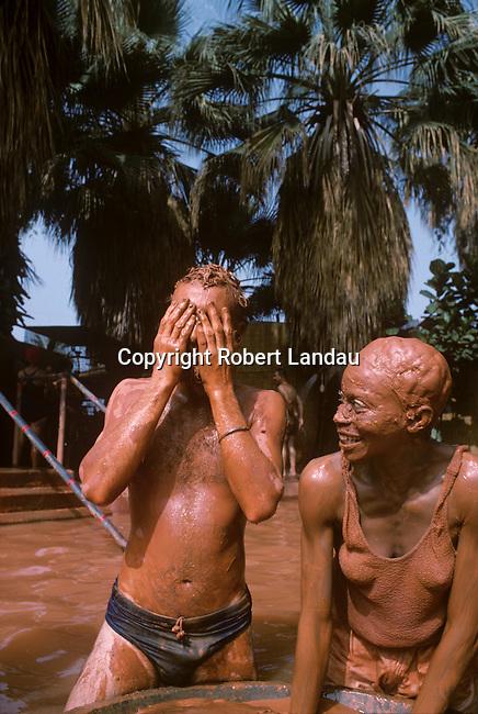 People enjoying the mud baths at Glen Ivy Hot Springs