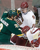 Drew MacKenzie (Vermont - 2), Jimmy Hayes (BC - 10) - The Boston College Eagles defeated the visiting University of Vermont Catamounts 6-0 on Sunday, November 28, 2010, at Conte Forum in Chestnut Hill, Massachusetts.