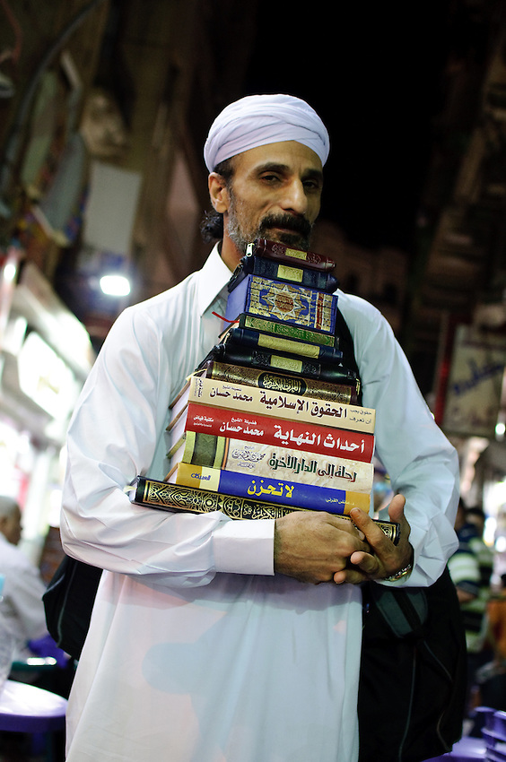 A bookseller on the streets of Cairo