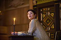 London, UK. 14.01.2014. The new Sam Wanamaker Playhouse, at Shakespeare's Globe, opens with The Duchess of Malfi, by John Webster, directed by Dominic Dromgoole. Picture shows: Gemma Arterton (The Duchess). Photograph © Jane Hobson.