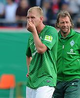 FUSSBALL   DFB POKAL   SAISON 2011/2012  1. Hauptrunde FC Heidenheim - Werder Bremen              30.07.2011 Enttaeuschung bei Andreas Wolf (SV Werder Bremen)