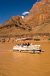 Scenic, Grand Canyon Boat Trip, Boating, pontoon boat on Colorado River, Arizona, AZ, cliffs, landscape, vertical, arid, erosion, nature, muddy water, no model release, Image nv467-18567.Photo copyright: Lee Foster, www.fostertravel.com, lee@fostertravel.com, 510-549-2202