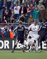 New England Revolution midfielder Pat Phelan (28) at midfield. In a Major League Soccer (MLS) match, the New England Revolution defeated DC United, 2-1, at Gillette Stadium on March 26, 2011.