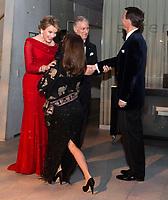 Le roi Philippe de Belgique et la reine Mathilde de Belgique en visite d'Etat au Danemark, lors de la soir&eacute;e &quot; The Black Diamond &quot;, en pr&eacute;sence du Prince Joachim de Danemark  la princesse Marie de Danemark, la princesse Mary de Danemark, le Prince Frederik de Danemark et la reine Margrethe II de Danemark.<br /> Danemark, Copenhague, 30 mars 2017.<br /> King Philippe of Belgium &amp; Queen Mathilde of Belgium during a State Visit to Copenhagen in Denmark are attending The Black Diamond event, with Crown Prince Joachim of Denmark,  Princess Marie of Denmark, princess Mary of Denmark, Prince Frederik of Denmark and Queen Margrethe II of Denmark.<br /> Denmark, Copenhagen, March 30, 2017.<br /> Pic : King Philippe of Belgium, Queen Mathilde of Belgium, Prince Joachim &amp; Princess Marie of Denmark