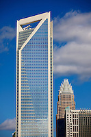 The new Duke Energy Tower in downtown / uptown / center city Charlotte North Carolina.  Photo by Charlotte, North Carolina photographer Patrick Schneider.