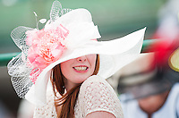 The scene of fans, fashions, hats and gambling on Kentucky Derby Day at Churchill Downs in Louisville, Kentucky on May 5, 2012.