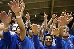 16 January 2016: Duke fans, also known as Cameron Crazies. The Duke University Blue Devils hosted the University of Notre Dame Fighting Irish at Cameron Indoor Stadium in Durham, North Carolina in a 2015-16 NCAA Division I Men's Basketball game. Notre Dame won the game 95-91.