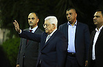 """Palestinian president Mahmud Abbas speaks during a joint press conference with United Nations Secretary General Ban Ki-moon after a meeting on June 28, 2016 in the West Bank city of Ramallah. Ban urged Israeli Prime Minister Benjamin Netanyahu to take """"courageous steps"""" toward peace as he visited Israel and the Palestinian territories. Photo by Shadi Hatem"""