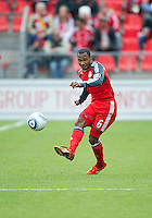 22 October 2011: Toronto FC midfielder Julian de Guzman #6 in action during a game between the New England Revolution and Toronto FC at BMO Field in Toronto..The game ended in a 2-2 draw.