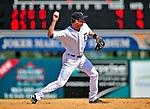 11 March 2009: Detroit Tigers' infielder Adam Everett in action during a Spring Training game against the New York Yankees at Joker Marchant Stadium in Lakeland, Florida. The Tigers defeated the Yankees 7-4 in the Grapefruit League matchup. Mandatory Photo Credit: Ed Wolfstein Photo