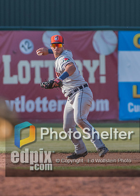 31 July 2016: Connecticut Tigers infielder Anthony Pereira in action against the Vermont Lake Monsters at Centennial Field in Burlington, Vermont. The Lake Monsters edged out the Tigers 4-3 in NY Penn League action.  Mandatory Credit: Ed Wolfstein Photo *** RAW (NEF) Image File Available ***