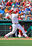 3 March 2011: St. Louis Cardinals' first baseman Albert Pujols in action during a Spring Training game against the Washington Nationals at Roger Dean Stadium in Jupiter, Florida. The Cardinals defeated the Nationals 7-5 in Grapefruit League action. Mandatory Credit: Ed Wolfstein Photo