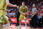 18 February 2017: Notre Dame's Steve Vasturia. The North Carolina State University Wolfpack hosted the University of Notre Dame Fighting Irish at the PNC Arena in Raleigh, North Carolina in a 2016-17 Division I Men's Basketball game. Notre Dame won the game 81-72.