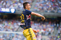 BRONX, NY - Sunday June 28, 2015: Expansion team New York City FC loses 3-1 to the New York Red Bulls in their first ever meeting at home at Yankee Stadium during the MLS regular season.