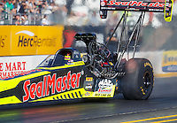 Jul 29, 2016; Sonoma, CA, USA; NHRA top fuel driver J.R. Todd during qualifying for the Sonoma Nationals at Sonoma Raceway. Mandatory Credit: Mark J. Rebilas-USA TODAY Sports