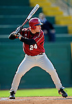 30 April 2008: University of Massachusetts Minutemen' outfielder Brian Baudinet, a Sophomore from Watertown, CT, in action against the University of Vermont Catamounts at Historic Centennial Field in Burlington, Vermont. The Catamounts recorded a season-high 19 hits as they defeated the Minutemen 17-4 in their last NCAA non-conference game of the year...Mandatory Photo Credit: Ed Wolfstein Photo