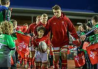 Wales U20's Will Jones leads his team out<br /> <br /> Photographer Alex Dodd/CameraSport<br /> <br /> RBS Six Nations U20 Championship Round 4 - Wales U20s v Ireland U20s - Saturday 11th March 2017 - Parc Eirias, Colwyn Bay, North Wales<br /> <br /> World Copyright &copy; 2017 CameraSport. All rights reserved. 43 Linden Ave. Countesthorpe. Leicester. England. LE8 5PG - Tel: +44 (0) 116 277 4147 - admin@camerasport.com - www.camerasport.com