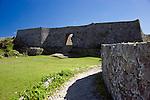 Photo shows the 3rd enclosure of Nakagusuku Castle ruins in KITA-NAKAGUSUKU VILLAGE, Okinawa Prefecture, Japan, on May 20, 2012. Photographer: Robert Gilhooly