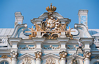 Saint Petersburg, Russia, August 2002..Russia's northern capital is undergoing major renovation and reconstruction in advance of its' 300th anniversary in 2003 - repairing the exteriors of the Catherine Palace at Pushkin....