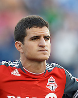 Toronto FC defender Logan Emory (2). In a Major League Soccer (MLS) match, Toronto FC defeated New England Revolution, 1-0, at Gillette Stadium on July 14, 2012.