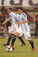 Argentina midfielder Ever Banega (15). The men's national teams of the United States and Argentina played to a 0-0 tie during an international friendly at Giants Stadium in East Rutherford, NJ, on June 8, 2008.