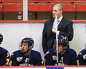 Zack Currie (Quinnipiac - 23), Bill Riga (Quinnipiac - Assistant Coach), Mike Dalhuisen (Quinnipiac - 2) - The visiting Quinnipiac University Bobcats defeated the Harvard University Crimson 3-1 on Wednesday, December 8, 2010, at Bright Hockey Center in Cambridge, Massachusetts.