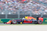 March 20, 2016: Daniel Ricciardo (AUS) #3 from the Red Bull Racing team at turn two of the 2016 Australian Formula One Grand Prix at Albert Park, Melbourne, Australia. Photo Sydney Low