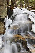 Stair Falls along Bumpus Brook during the spring months in Randolph, New Hampshire USA.