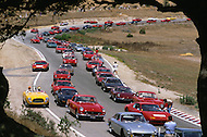 August 26th 1984, Laguna Seca Raceway, CA. This is the largest concentration of Ferrari, more than 3.000 models and proud owners show their cars and race with them.