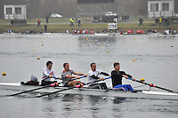 009 BexhillRC SEN.4+..Marlow Regatta Committee Thames Valley Trial Head. 1900m at Dorney Lake/Eton College Rowing Centre, Dorney, Buckinghamshire. Sunday 29 January 2012. Run over three divisions.