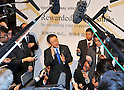March 9, 2011, Tokyo, Japan - Toyota Motor Corp. President Akio Toyota unveils the &quot;Global Vision 2020,&quot; a corporate outline for the future at its Tokyo head office on Wednesday, March 9, 2011. The 10-year strategy incorporates lessons the world&Aring;fs biggest automaker learned through the market downturn that followed the global financial crisis and through a series of product recalls. (Photo by Natsuki Sakai/AFLO) [3615] -mis-