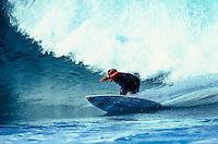 Brad Gerlach (USA) free surfing at Jeffreys Bay South Africa. circa 1991 Photo: joliphotos.com