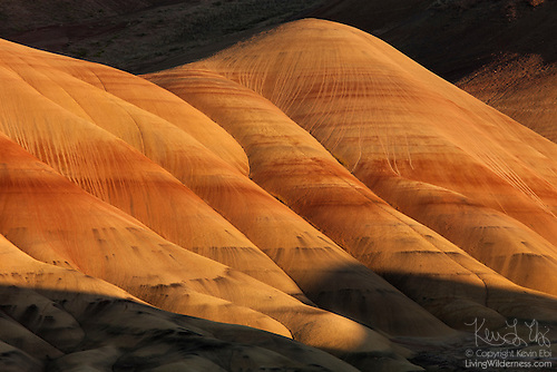 Shadow on Painted Hills, John Day Fossil Beds National Monument, Oregon