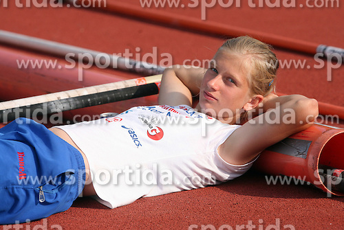 Tina Sutej at Athletic National Championship of Slovenia, on July 19, 2008, in Stadium Poljane, Maribor, Slovenia. (Photo by Vid Ponikvar / Sportal Images).