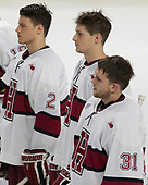 Tyler Moy (Harvard - 2), Wiley Sherman (Harvard - 25), Merrick Madsen (Harvard - 31) - The Harvard University Crimson defeated the Air Force Academy Falcons 3-2 in the NCAA East Regional final on Saturday, March 25, 2017, at the Dunkin' Donuts Center in Providence, Rhode Island.