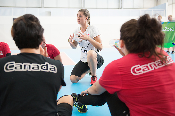 RIO DE JANEIRO - 6/9/2016:  Nicole Ban, Head Coach of Canada's Womens Sitting Volleyball team during a practice match vs Team USA at the Paralympic Village at the Rio 2016 Paralympic Games. (Photo by Matthew Murnaghan/Canadian Paralympic Committee