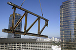 30 July 2005:  Bridge truss installation at 2000 AOS