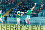 Jack Goulding Kerry in action against Dan Morrissey Limerick in the Munster Hurling League Round 4 at the Gaelic Grounds, Limerick on Sunday.