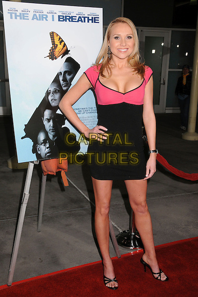 "ALANA CURRY.""The Air I Breathe"" Los Angeles Premiere at ArcLight Cinemas, Hollywood, California, USA..January 15th, 2008.full length pink black tight mini dress hand on hip .CAP/ADM/BP.©Byron Purvis/AdMedia/Capital Pictures."