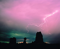 Moonlit Lightning, Arches National Park, Utah